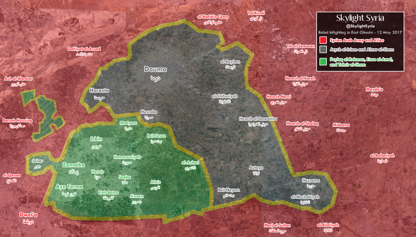Rebel Infighting in East Ghouta 2